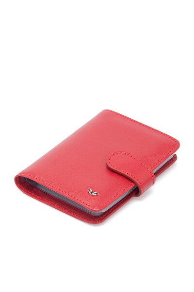 Hakiki Deri Kırmızı Unisex Kredi Kartlık S1KK00001210