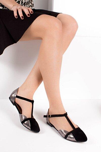 Siyah Platin Kadın Ayakkabı B726881802