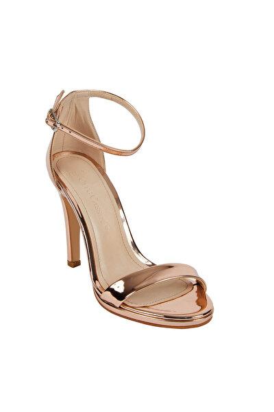 Kadın Bronz Rengi Yüksek Topuklu Abiye Ayakkabı LILA