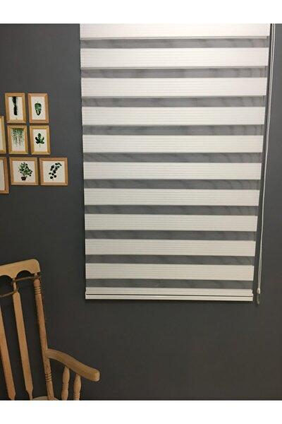 Zebra Stor Perde Pliseli Beyaz