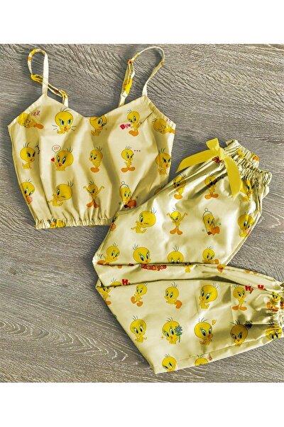 Tweetty Desenli Trend Pijama Takımı