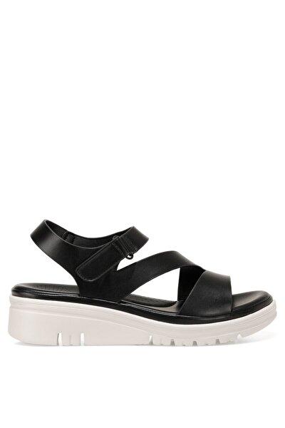 CADALILLA 1FX Siyah Kadın Kalın Tabanlı Sandalet 101027699