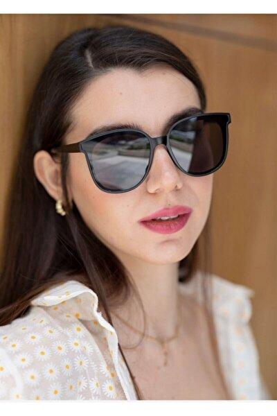 Kadın Dikdörtgen Güneş Gözlüğü New Mia Kalın Kemik Çerçeveli