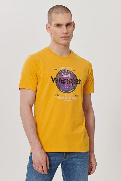 Erkek Hardal Regular Fit Bisiklet Yaka T-Shirt