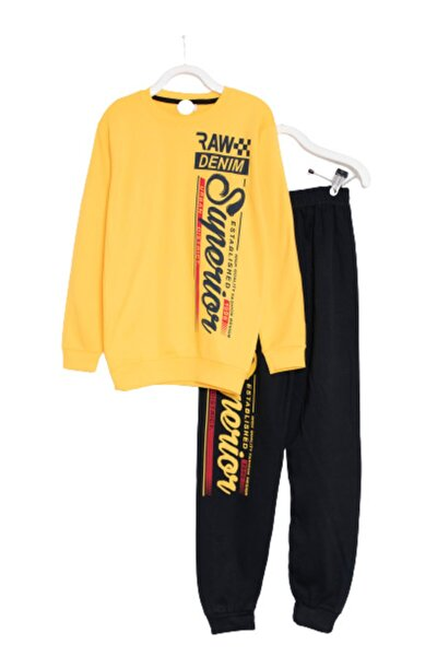 Erkek Çocuk Pijama Takımı Rahat Kalıp %100 Pamuklu