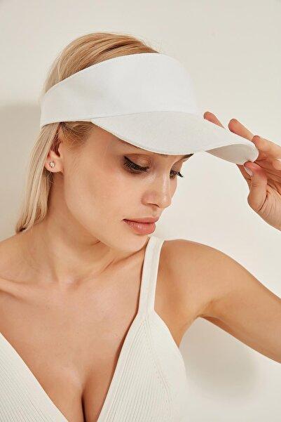 13363 Beyaz Tenisçi Şapkası