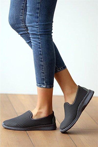 Kadın Gri Aqua Ortopedik Memory Foam  Günlük Spor Babet Ayakkabı