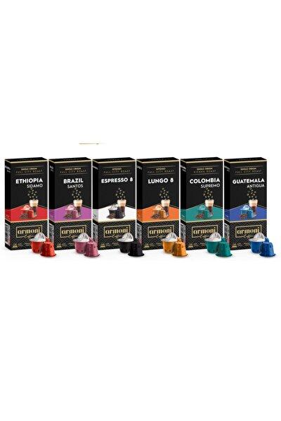 Armoni Coffee Nespresso Uyumlu Kapsül Kahve 60 Kapsül 6'lı