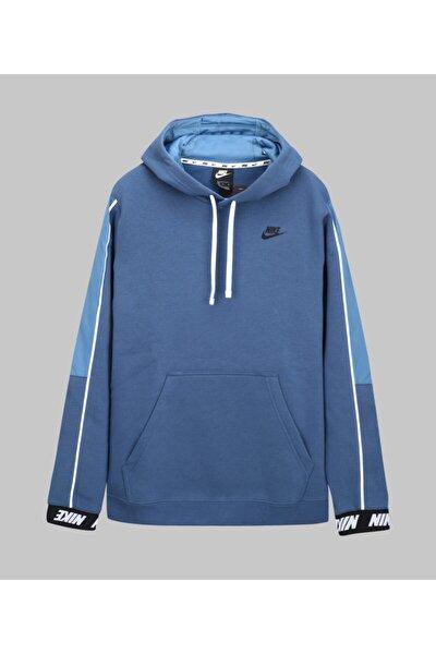 Erkek Mavi Club Fleece Hoodie Sweatshirt