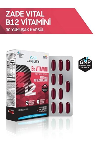 B12 Vitamini 30 Yumuşak Kapsül - Blister