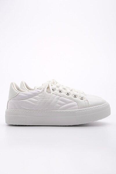 Kadın Sneaker Ayakkabı Afelabeyaz Rugan