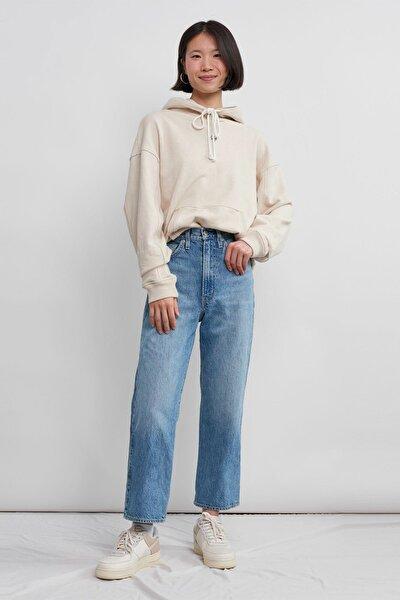 Kadın Mavi Yüksek Bel Jeans