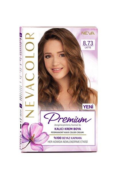 Nevacolor Premium Kalıcı Krem Set Boya 8.73 Latte