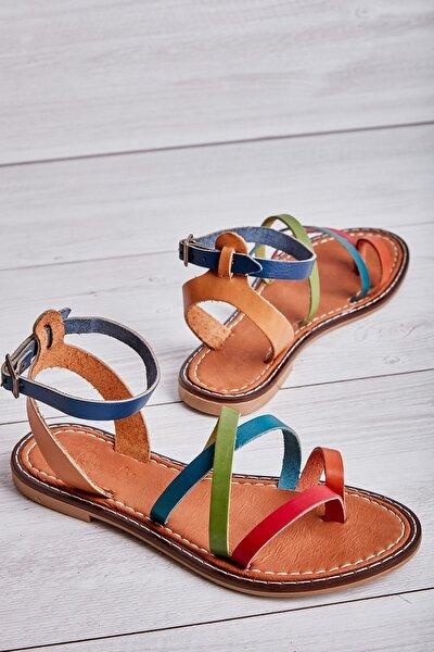 Hakiki Deri Çok Renkli Kadın Sandalet L0602809503