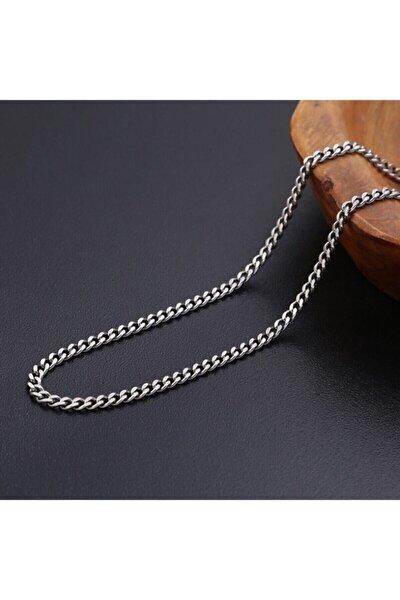 Kaliteli Gümüş Modeli Unisex Bakla Kuban Salaş Zincir 70 Cm 118