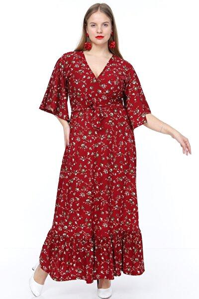 Kruvaze Yaka Elbise