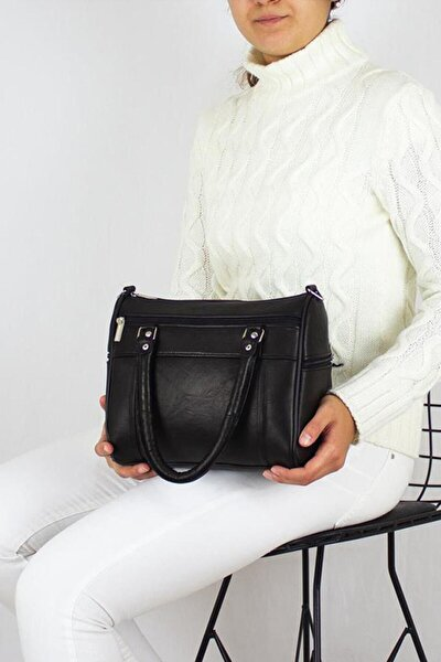 Kadın Siyah Bavyera Medium Hakiki Deri Omuz, Kol Çantası