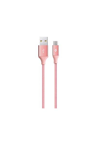 Alumicable Micro Uyumlu  Usb Şarj Kablosu Roze Altın 2dk11ra