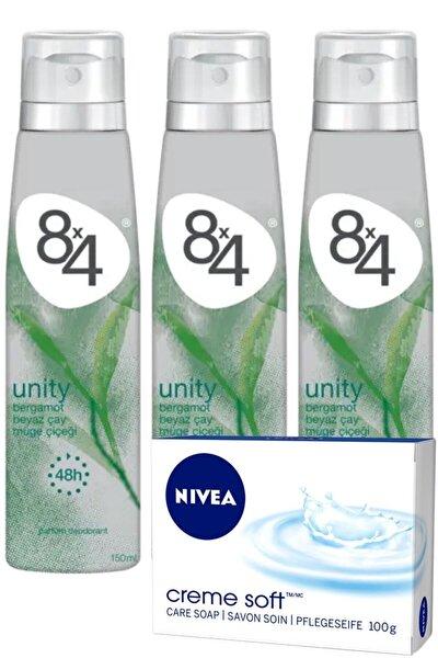 Unity Pudrasız Unisex Deodorant Sprey 150 ml X 3 Adet | +nivea Sabun
