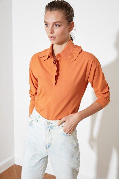 Kiremit Yaka Detaylı Bluz TWOSS21BZ0230