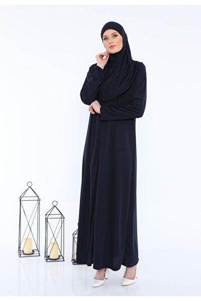 Kolay Giyilebilen Fermuarlı Tek Parça Namaz Elbisesi Siyah