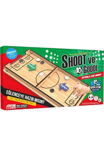 Elif Iş Eğitimi Ahşap Shoot Ve Goool Oyun Set