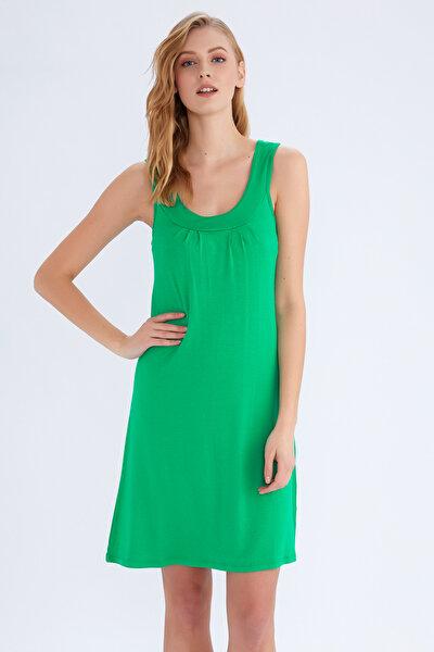 Kadın Yeşil Plaj Elbisesi 59431
