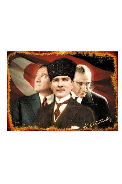 50cmX70cm Ahşap Tablo Atatürk Temalı Tablo