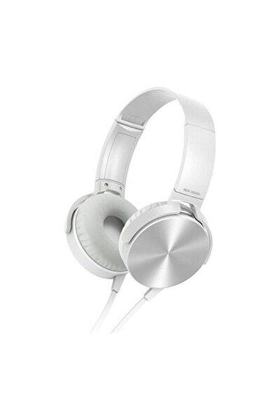Kafa Üstü Telefon Oyun Kulaklığı Extra Bass Stereo Beyaz