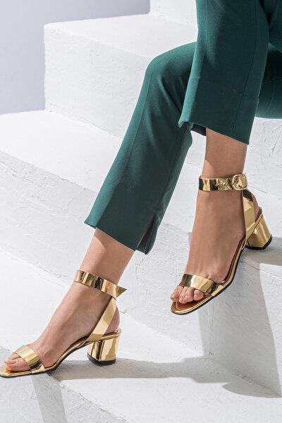 HAYLE Altın Rengi Kadın Topuklu Ayakkabı