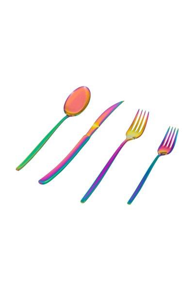 Grace Çatal Kaşık Bıçak 24 Parça- Colorful