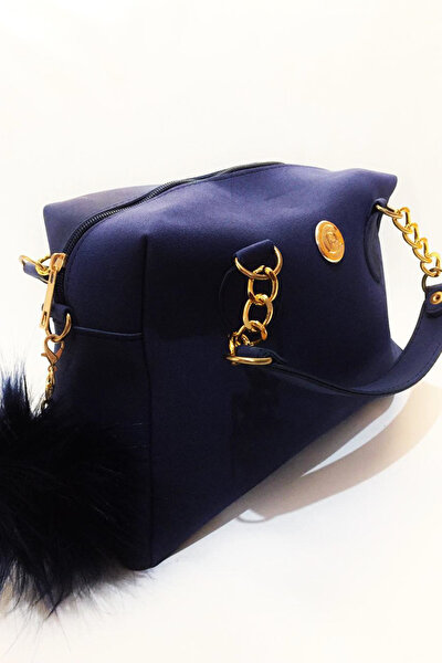 Marka Kadın Lacivert Rengi Süet Askılı El Ve Omuz Çantası Xybdr83