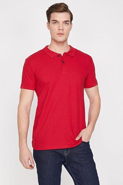 Erkek Kırmızı Polo Yaka T-Shirt 9YAM12133LK