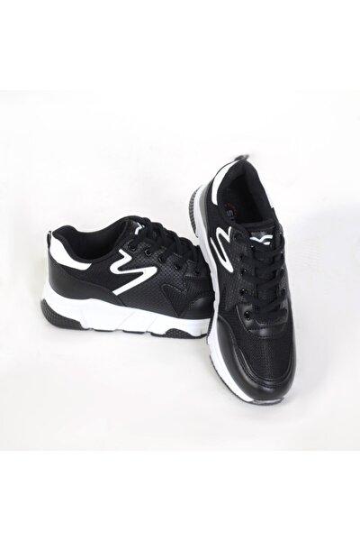 437 Bağlı Siyah-beyaz Anoraklı Spor Ayakkabı