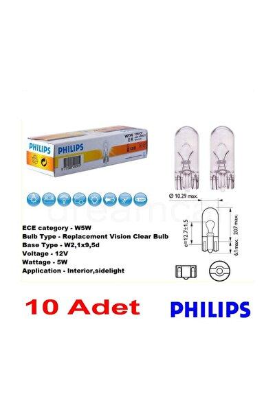 T10 Büyük Dipsiz 12V5W 10'lu Paket 12961CP