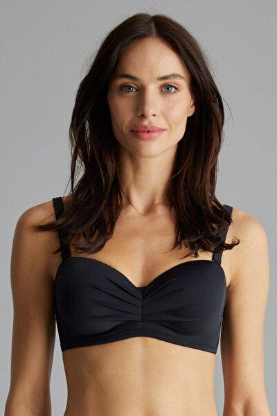 Siyah Basic Lotus Bikini Üstü