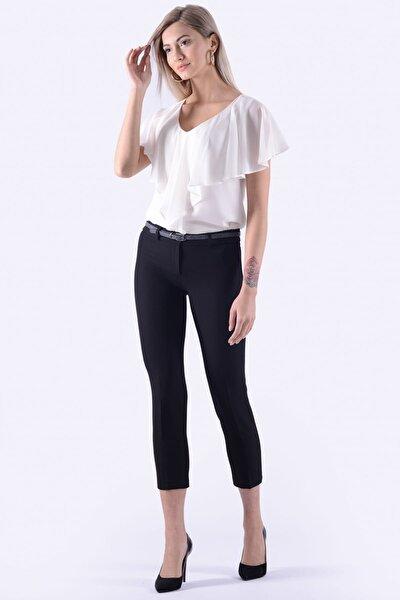 Kadın Siyah Dar Paça Kumaş Pantolon 1581-891K