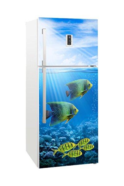 Buzdolabı Kapağı Kaplama Sticker 0064 BUZS000064