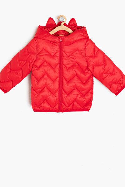 Kırmızı Erkek Bebek Sisme Mont