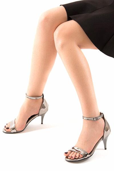 Platin Kadın Topuklu Ayakkabı D340040034