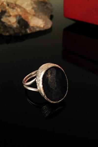 Kadın Doğaltaş Lapis Lazuli Taşı Gümüş Kaplama Yüzük Krb135