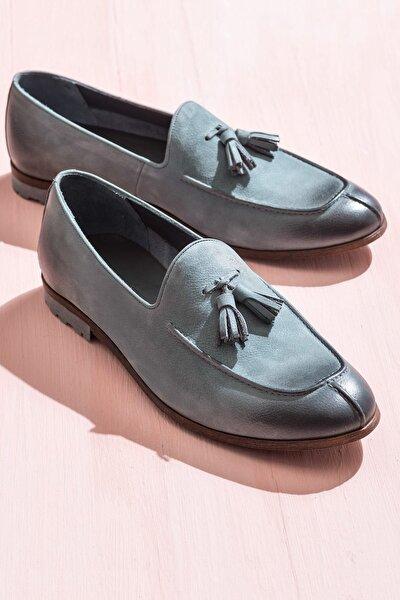 TOBIN Hakiki Deri Gri Erkek Ayakkabı