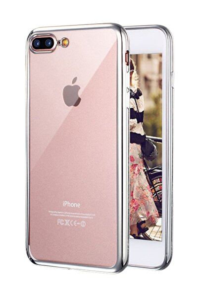 Apple iPhone 7 Plus Kılıf Flexi Delux Gümüş