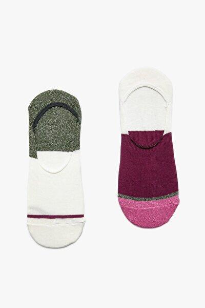 Kadın Bordo Kadın 2'li Çorap 9YAK81151AA