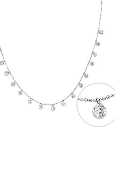 Kadın Tifani 925 Ayar Gümüş Kolye GK00508