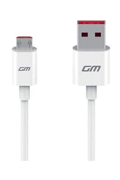 GM 8 GO Micro USB Orijinal Şarj ve Data Kablo Beyaz (Telpa)