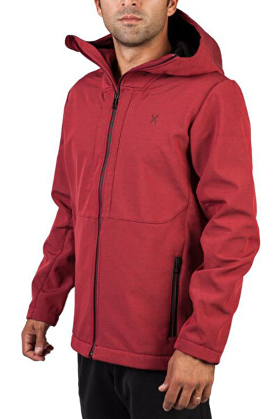 Erkek Bordo Mont - Outdoor Softshell - 281136