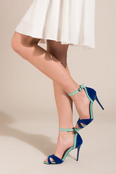 Su Yeşili Saks Kadın Topuklu Ayakkabı B922113802