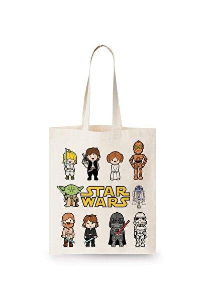 Minik Star Wars Karakterleri Bez Çanta