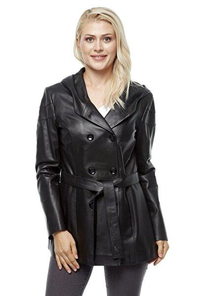 Kadın Taina Siyah Deri Ceket 3229